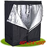 "Non Toxic High Quality Reflective Mylar Indoor 48""x24""x60"" Hydroponic Growing Tent Hut For Growing Plants Vegies Great Use For Homes Garden Nursery Condition: New: A brand-new, unused, unopened, undamaged item in its original packaging Type: ..."