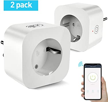 Enchufe Inteligente Wifi, GBlife Enchufe de Una Toma con USB, Control Remoto/Mando de Voz, con Interruptor y Temporizador, Compatible con Smart Life/Google Home/Amazon Alexa (2 Packs,Squar): Amazon.es: Bricolaje y herramientas