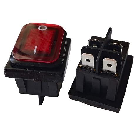 Waterproof Rocker Switch 4Pins 20A/125V 16A/250V Push on ... on dpdt rocker switch, 15a 120v rocker switch, 4 terminal rocker switch, dpst rocker switch,