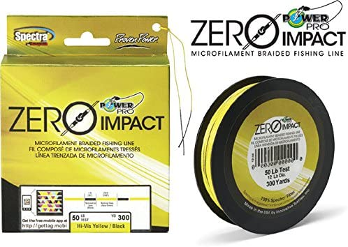 Power Pro Zero Impact Spectra Braided Fishing Line 300 Yards