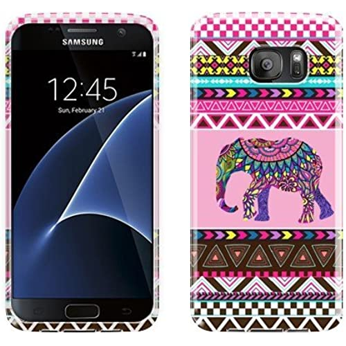 NextKin Flexible Slim Silicone TPU Skin Gel Soft Protector Cover Case For Samsung Galaxy S7 G930 - Elephant Aztec Sales