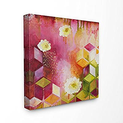 Stupell Industries Painted Abstract Colors Cubes Shapes Canvas Wall Art, 24 x 24, Multi