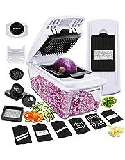 Gemüseschneider Spiralschneider Godmorn Mandoline Gemüsehobel Pommesschneider Gemüsenudeln Zwiebelschneider Ideal für Obst Kohl Karotten Kartoffeln Tomaten Salat