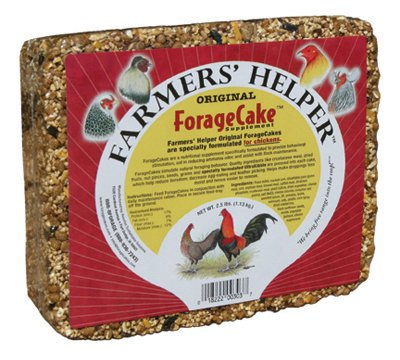 C & S Products 06303 Original Forage Cake Chicken Supplement, 2-1/2-Lbs. - Quantity 6 by Farmer's Helper