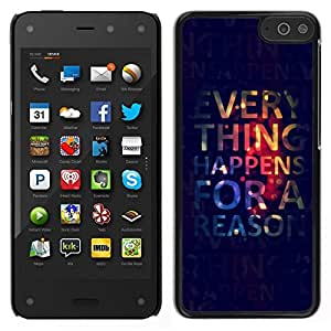 Caucho caso de Shell duro de la cubierta de accesorios de protección BY RAYDREAMMM - Amazon Fire Phone - Todo pasa por alguna razón