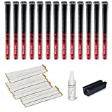 Golf Pride New Decade MCC 0.580 Ribbed Grip Kit (13-Piece), Red