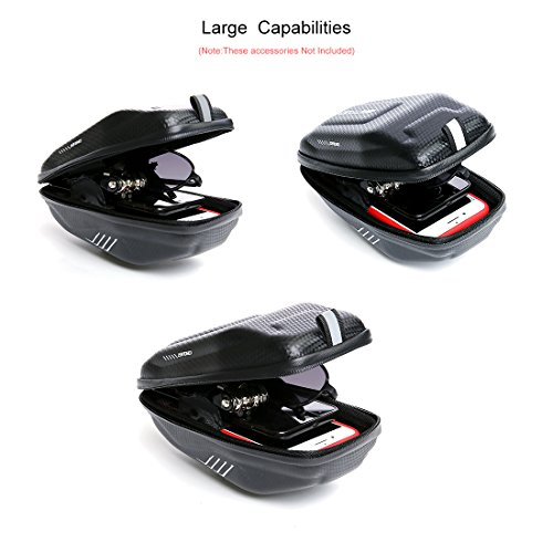 Wantdo Bicycle Saddle Bag with Highly Sealed Zipper for Repair Tools,Waterproof Bike Bag with Reflective Logo Outdoor Accessories Pocket Cycling Pack by Wantdo (Image #4)