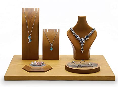 Jewelry Necklace Ring Earrings Display Plate Tray Holder Dish Organizer Charm