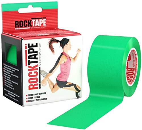 RockTape Kinesiology Tape for Athletes - 2 Inch x 16.4 Feet (Green)