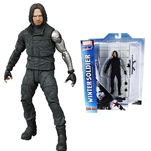 Diamond Select Toys Marvel Select: Captain America: Civil War: Winter Soldier Action Figure