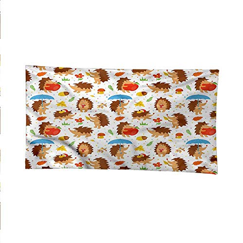 - Hedgehogwall Tapestry for bedroombeach tapestryCartoon Mascots Woods 80W x 60L Inch