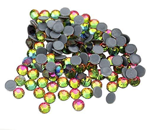 Jollin Hot Fix Flatback Rhinestones Glass Diamantes Gems(20ss 576pcs,Fire)