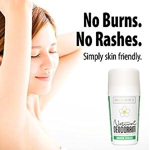 Bali Secrets Natural Deodorant – Organic & Vegan – For Women & Men – All Day Fresh – Strong & Reliable Protection – 2.4 fl.oz/70ml [Scent: Original Essence]