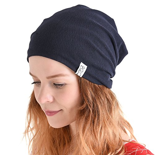 CHARM Casualbox | Summer Beanie Slouchy Hat Thin Baggy Cooling Light Fashion Unisex Blue