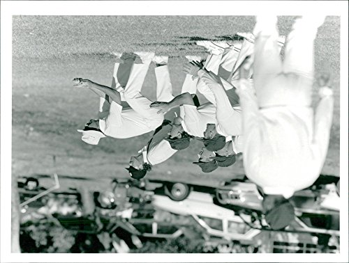 - Vintage photo of England Cricket Tour 1990 4 Day Match Leeward Islands v Eng. St. Kitts 1990