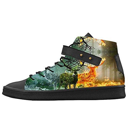 Dalliy kunst hirsch Mens Canvas shoes Schuhe Footwear Sneakers shoes Schuhe C