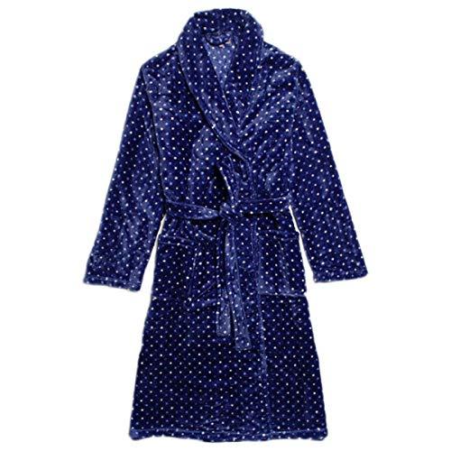 Cálido Traje Baño Suave Franela Ligero De Albornoz Especial Lindo Estilo Moda Pijama Cómodo Bufanda Lujo Para Adultos Vestido Azul Señoras xF0AvwPA