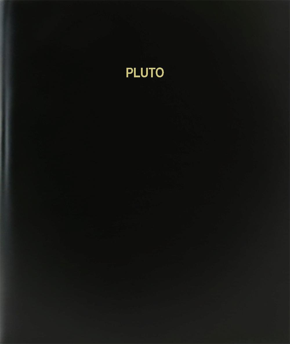 BookFactory® Pluto Log Book / Journal / Logbook - 120 Page, 8.5''x11'', Black Hardbound (XLog-120-7CS-A-L-Black(Pluto Log Book))