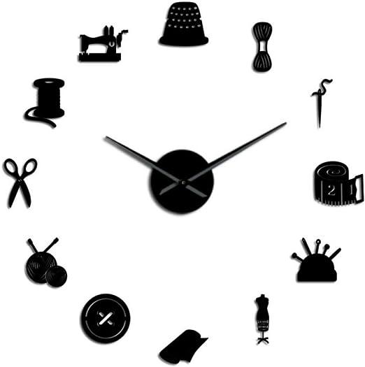 Wangchengo DIY Tailor Reloj de Pared Gigante Máquina de Coser a ...