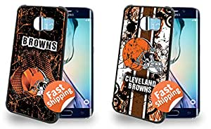 Cleveland Browns Cell Phone Hard Case TWO PACK for Samsung Galaxy S6 Edge