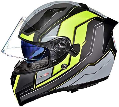 Motorradhelm Integralhelm Rueger Rt 826 Motorrad Roller Quad Helm Farbe Black Neon Größe M 57 58 Auto