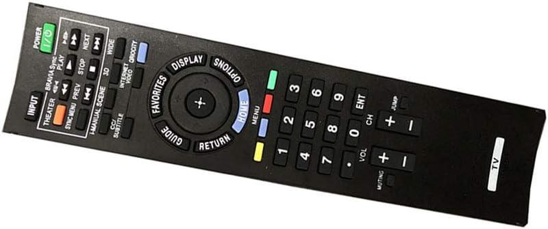 Easy Replacement Remote Control Suitable for Sony KDL-46HX820 KDL-55EX723 KDL-60EX720 BRAVIA HDTV TV