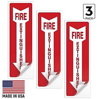 Amazon.com: Señal de extintor de incendios (paquete ...