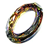 1 pc Swarovski Crystal 4137 Oval Cosmic Ring Frame Pendant Charm Volcano 15mm / Findings / Crystallized Element