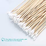 ROSENICE Cotton Swabs 100Pcs Long Wood Handle