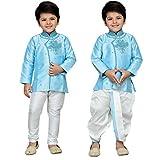 AJ Dezines Kids Indian Wear Bollywood Style Kurta Pyjamas Dhoti for Boys (1905-FIROZI-3)