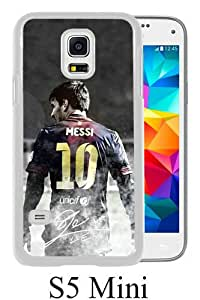 Great Quality Samsung Galaxy S5 Mini Case ,Soccer Player Lionel Messi 04 White Samsung Galaxy S5 Mini Cover Case Hot Sale Phone Case Unique And Beatiful Designed