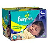 (US) Pampers Swaddlers Overnights Diapers Size 6, 44 Count
