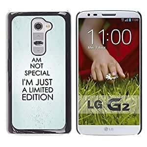 Impact Case Cover with Art Pattern Designs FOR LG G2 Special Unique Exclusive Funny Quote Betty shop