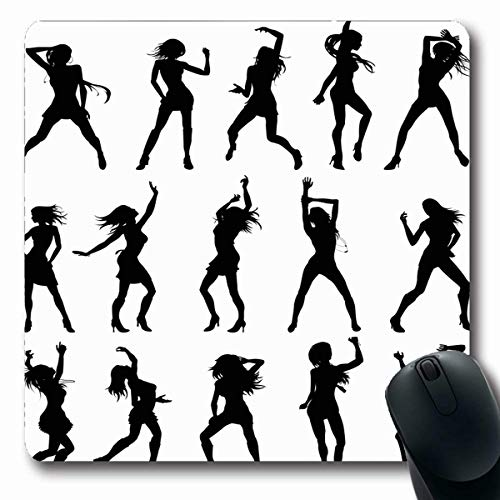 Silouette Girl (Tobesonne Mousepads Girl Sexy Dancing Dance Dancer Silouette Lady Party Design Outline Oblong Shape 7.9 x 9.5 Inches Non-Slip Gaming Mouse Pad Rubber Oblong Mat)
