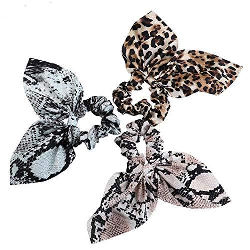 3 pcs set Snake Print Scrunchie Hairband Women Korean Fashion Snake Headband Hair Accessories for Girls Head Bands