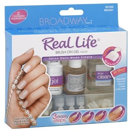 Kiss-Juego de tapas Broadway Real Life con gel de uñas a aplicar el ...