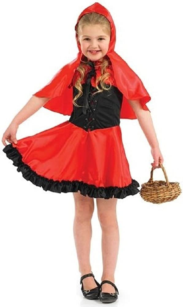 Little Red Riding Hood Girls Fancy Dress Fairy Tale Book Day Kids Childs Costume
