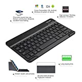 Goodqueen Folding Bluetooth Keyboard, Case Leather Cover Folio Stand For 8.9''-9'' Tablet