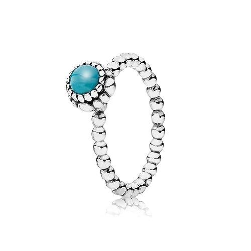 f3e9ccacd Authentic Pandora Turquoise December Birthday Blooms Ring Size 60 (9)  190854TQ: Amazon.ca: Jewelry