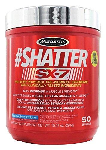 MuscleTech Shatter SX7 Blue Raspberry Explosion 291 g