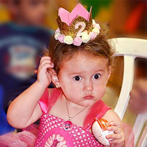 Princess Baby Girl 1st Birthday Flower Crown Party One /& Two Year Hairband^TiaYN