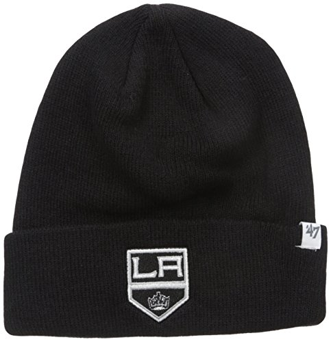 NHL Los Angeles Kings '47 Raised Cuff Knit Hat, Black, One Size