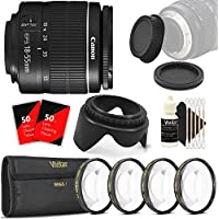 Canon EF-S 18-55mm f/3.5-5.6 III + Top Value Bundle For Canon T5 T6 T5i T6i 70D 80D