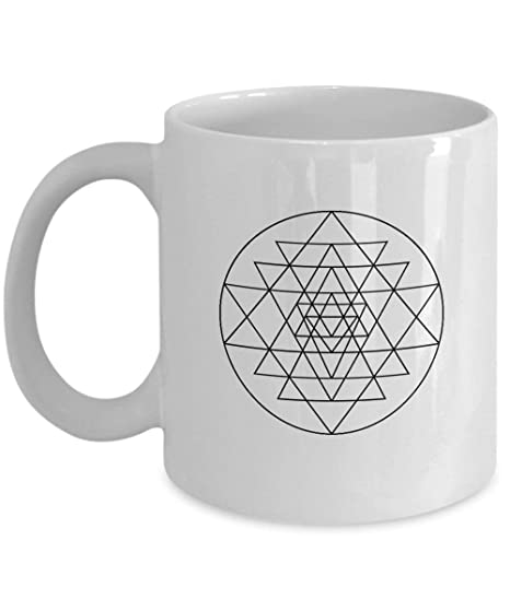 Gifts Birthday Ceramic Cup Sri Yantra Sacred Geometry Yoga ...