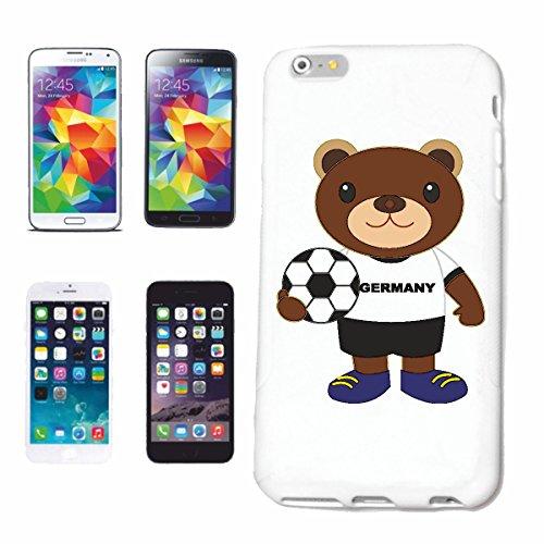 """cas de téléphone iPhone 7S """"TEDY BEAR FOOTBALL Allemagne 2018 Coupe du Monde ALLEMAGNE CHAMPION DU MONDE RUSSIE RUSSIE demi-finale QUARTS DE FINALE"""" Hard Case Cover Téléphone Covers Smart Cover pour A"""