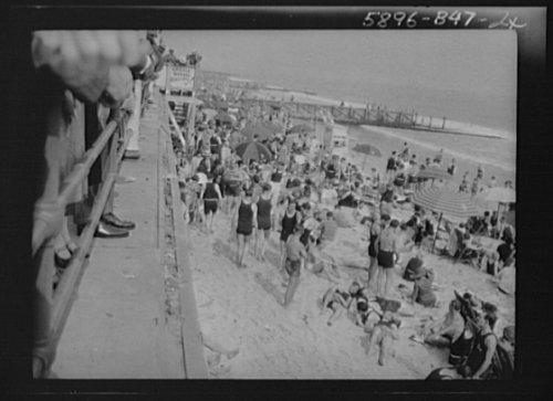 1927 Photo New York City views, Long Beach vintage black & white photo F403 ()