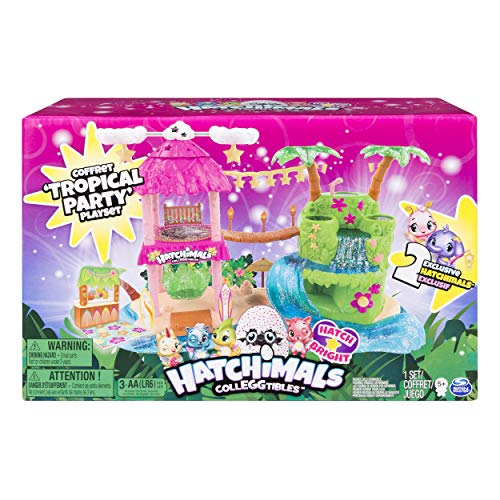 Hatchimals CollEGGtibles Tropical Party Playset with 2 Exclusive Hatchimals, Ages 5 and Up (Barbie And The Diamond Castle Part 1)