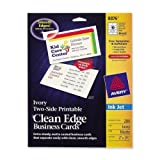 Wholesale CASE of 15 - Avery Clean Edge Two Side Inkjet Business Cards-Inkjet Business Cards, 2-Side, 200/PK, Ivory