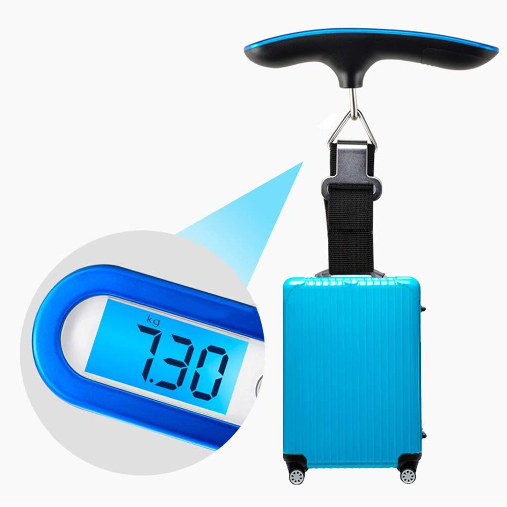 Ogquaton /50Kg Precise Mini Portable Num/érique P/èse-Bagages Valise Balance P/èse-Poids Bleu Durable Et Utile