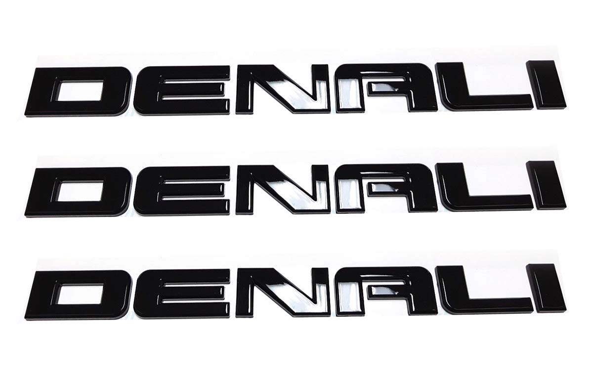 Yoaoo/® 3pcs Original Chrome Denali Nameplate Emblems Hd Badges for Gm 07-16 Yukon Sierra Terrain